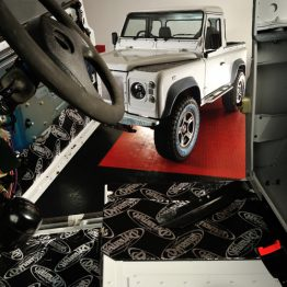 Land Rover with Dynamat fitted